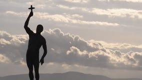 Catcher of the cross, Ohrid, Macedonia stock video footage