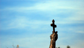 Catcher of a Cross, a statue in Ohrid, Macedonia Stock Photos