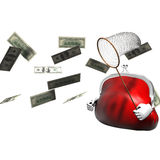 Catcher hunt. 3D visualization of ideas hunt for an increase in profit Royalty Free Stock Images