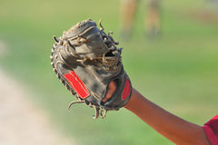 Catchers mitt Royalty Free Stock Photos