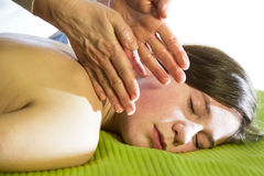 Catches during massage Stock Image