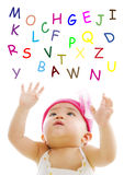 Catching alphabet words Royalty Free Stock Image