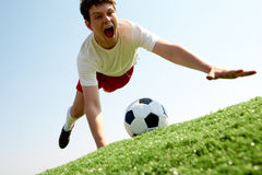Catching ball Royalty Free Stock Photography
