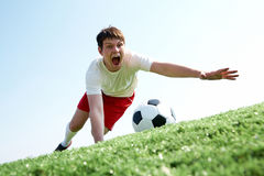 Catching ball Stock Images