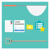 Catching Bookmark. Flat icon for cathing bokmark Royalty Free Stock Photos