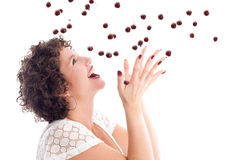 Catching the cherries Royalty Free Stock Images