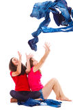 Catching denim wear stock images
