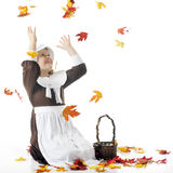 Catching Falling Leaves Stock Photos