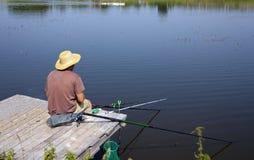 Catching of fish Stock Image