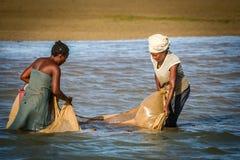 Catching fish Stock Photos