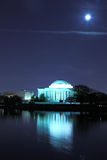 Washing DC 6. Catching Jefferson Memorial night view from the tidal Basin in early spring Stock Photo