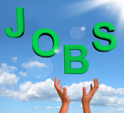 Catching Jobs Word Showing Work And Careers Stock Images