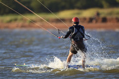 Catching the last wave on lake hefner Stock Photos