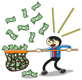Catching money Stock Image