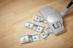 Catching money Royalty Free Stock Image