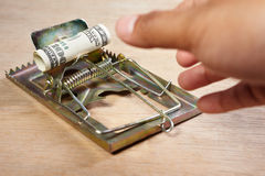 Catching money Royalty Free Stock Image