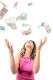 Catching money Stock Photo