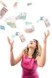 Catching money Royalty Free Stock Photo