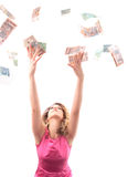 Catching money Stock Photography