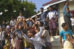Catching money in Myanmar Royalty Free Stock Image