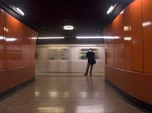 Catching the subway Royalty Free Stock Photography