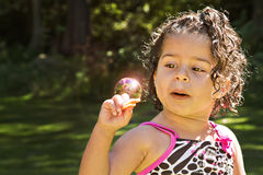 Catching the sun in a bubble Stock Photos