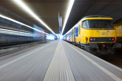 Catching a train Stock Photos