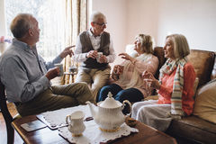Catching Up Over Tea Royalty Free Stock Image