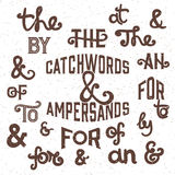 The catchwords and ampersands - Vector Illustration. Stock Photography