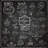 Catchwords blackboard chalk design Royalty Free Stock Images