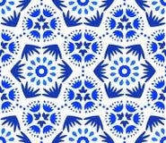 Catchy Indigo Blue Flower Pattern Royalty Free Stock Photography