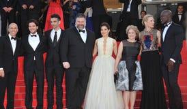 Cate Blanchett et America Ferrera et Djimon Hounsou et Kit Harington et Jay Baruchel et doyen Deblois et Jeffrey Katzenberg et Bo Photos libres de droits