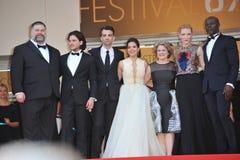 Cate Blanchett et America Ferrera et Djimon Hounsou et Kit Harington et Jay Baruchel et doyen Deblois et Jeffrey Katzenberg et Bo Photo libre de droits