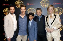 Cate Blanchett, Matthew Rhy, Benedict Cumberbatch, Rohan Chand και Andy Serkis Στοκ φωτογραφία με δικαίωμα ελεύθερης χρήσης