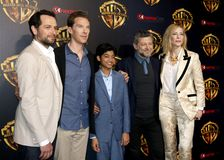Cate Blanchett, Matthew Rhy, Benedict Cumberbatch, Rohan Chand και Andy Serkis Στοκ φωτογραφίες με δικαίωμα ελεύθερης χρήσης