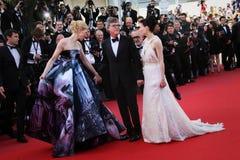 Cate Blanchett, Rooney Mara et directeur Todd Haynes Photos stock
