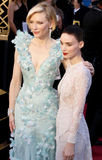 Cate Blanchett and Rooney Mara Royalty Free Stock Photo