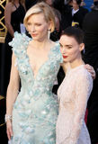 Cate Blanchett and Rooney Mara Royalty Free Stock Photos