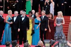 CATE BLANCHETTE,The Crystals,Calista Flockhart,Cate Blanchett,George Lucas,Harrison Ford,Karen Allen,Kate Capshaw,Steven Spielberg Stock Image