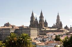 Catedral在Santiago de Compostela 免版税库存照片