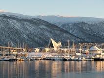 Catedral ártica Tromsø Fotografía de archivo libre de regalías