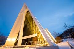 Catedral ártica Tromso Noruega foto de stock