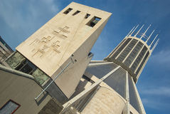 Catedral única de Liverpool Foto de archivo