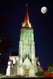 catedral ноча луны Стоковая Фотография