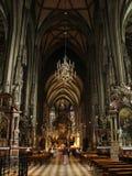 Catedral adentro foto de archivo