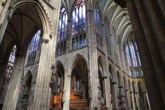 Catedral Alemanha de Colónia para dentro Foto de Stock Royalty Free