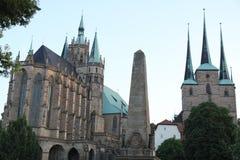 Catedral Alemania de Erfurt imágenes de archivo libres de regalías