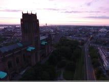 Catedral anglicana fotos de archivo