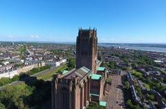 Catedral anglicana icónica asombrosa de Liverpools foto de archivo libre de regalías