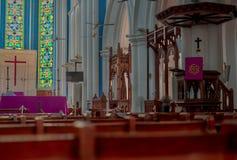 Catedral anglicana Singapura de St Andrew s foto de stock